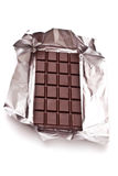 Dark chocolate. On white background close up Royalty Free Stock Photo