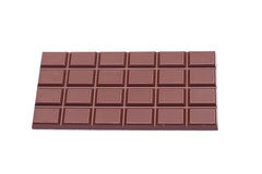 Dark chocolate. On white background close up Stock Photography