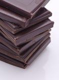 Dark chocolate. Squares of delicios dark chocolate Royalty Free Stock Image