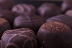 Dark Chocolate Pralines Royalty Free Stock Photo