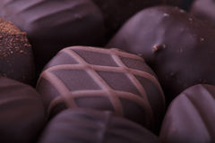 Dark Chocolate Pralines Stock Images