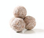 Dark chocolate almond truffles Royalty Free Stock Photos