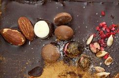 Dark chocolate background Royalty Free Stock Image