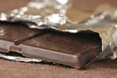 Dark chocolate bar Stock Image