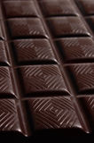 Dark chocolate bar Stock Image
