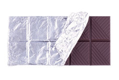 Dark chocolate bar Royalty Free Stock Photography