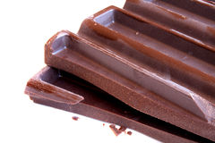 Dark chocolate bar Royalty Free Stock Image
