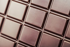 Dark chocolate bar Stock Photography