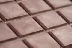 Dark chocolate bar closeup photo Stock Image
