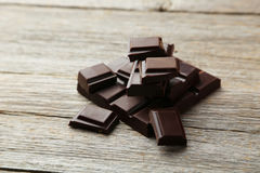 Dark chocolate bar Stock Photography