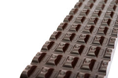 Dark chocolate bar isolated on a white Royalty Free Stock Image