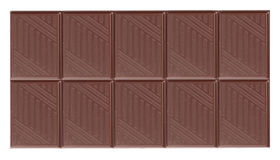 Dark chocolate bar Stock Photo
