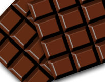 Dark Chocolate bars Stock Image