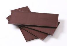 Dark chocolate bars Stock Photos