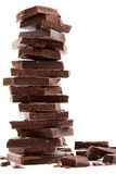 Dark chocolate bars stack Royalty Free Stock Photos