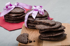 Dark chocolate biscuits Royalty Free Stock Image