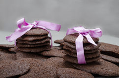 Dark chocolate biscuits Royalty Free Stock Photo