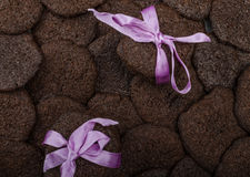 Dark chocolate biscuits Royalty Free Stock Images