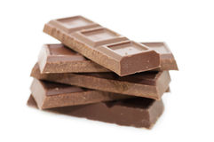 Dark chocolate block Stock Photos