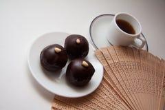 Dark chocolate bonbons Royalty Free Stock Photos
