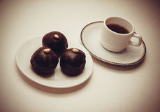 Dark chocolate bonbons Royalty Free Stock Image