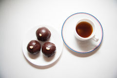 Dark chocolate bonbons Royalty Free Stock Images