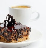 Dark chocolate cake Royalty Free Stock Images