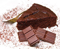 Dark chocolate cake Stock Photo
