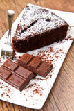 Dark chocolate cake Stock Photography