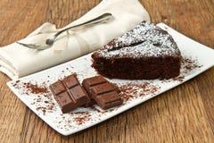 Dark chocolate cake Royalty Free Stock Image