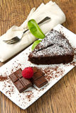 Dark chocolate cake Royalty Free Stock Image