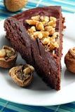 Dark chocolate cake Stock Photos