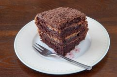 Dark Chocolate Cake II Royalty Free Stock Image