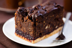 Dark chocolate cake with rum Royalty Free Stock Photo
