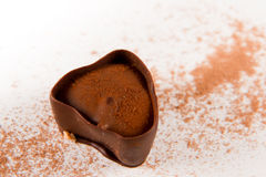 Dark chocolate with cocoa powder Stock Photo