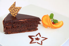 Dark chocolate, coffee cake Royalty Free Stock Photo