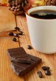Dark chocolate and coffee Stock Photo