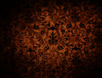 Dark Chocolate Color Brocade Pattern Abstract Background Royalty Free Stock Photos