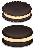 Dark chocolate cookie and cream Stock Photos