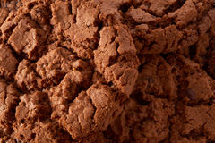 Dark chocolate cookies background Royalty Free Stock Image