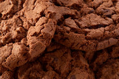 Dark chocolate cookies background Royalty Free Stock Photos