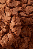 Dark chocolate cookies background Royalty Free Stock Photography