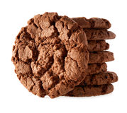 Dark chocolate cookies Royalty Free Stock Photography