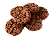 Dark chocolate cookies Royalty Free Stock Photo