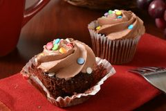 Dark chocolate cupcakes Royalty Free Stock Photo