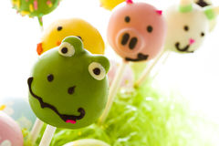 Easter cake pops Stock Image
