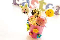 Easter cake pops Royalty Free Stock Image