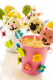 Easter cake pops Royalty Free Stock Photography