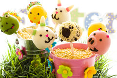 Easter cake pops Stock Photo