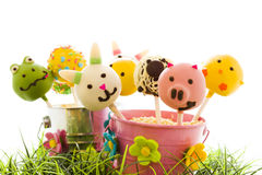 Easter cake pops Royalty Free Stock Images